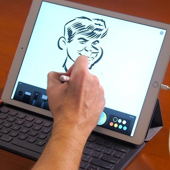 - We draw on iPads