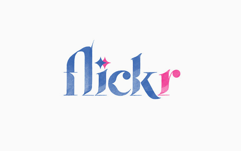 The Flickr logomark is highly styled
