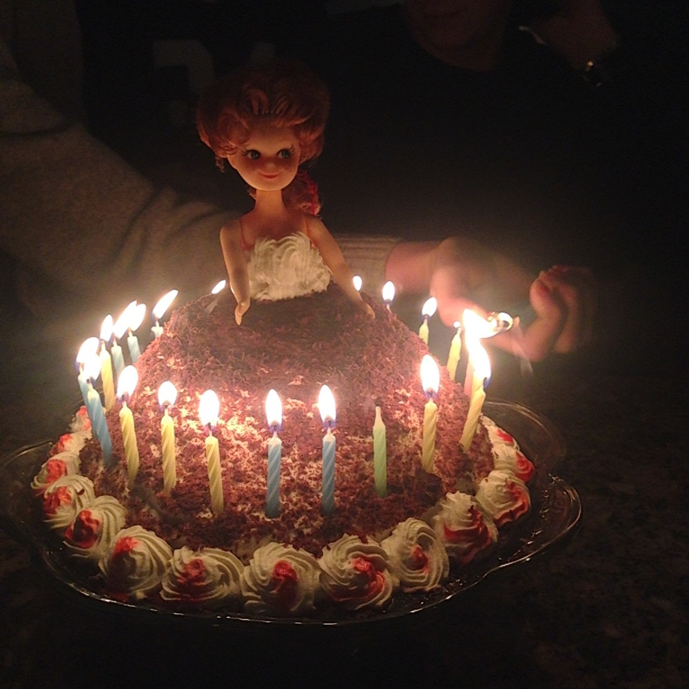a doll cake made by andrea owen.