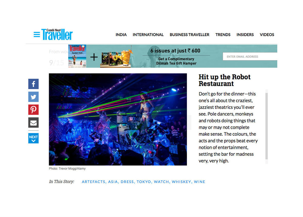 Photo of Tokyo's Robot Restaurant for CN Traveller.