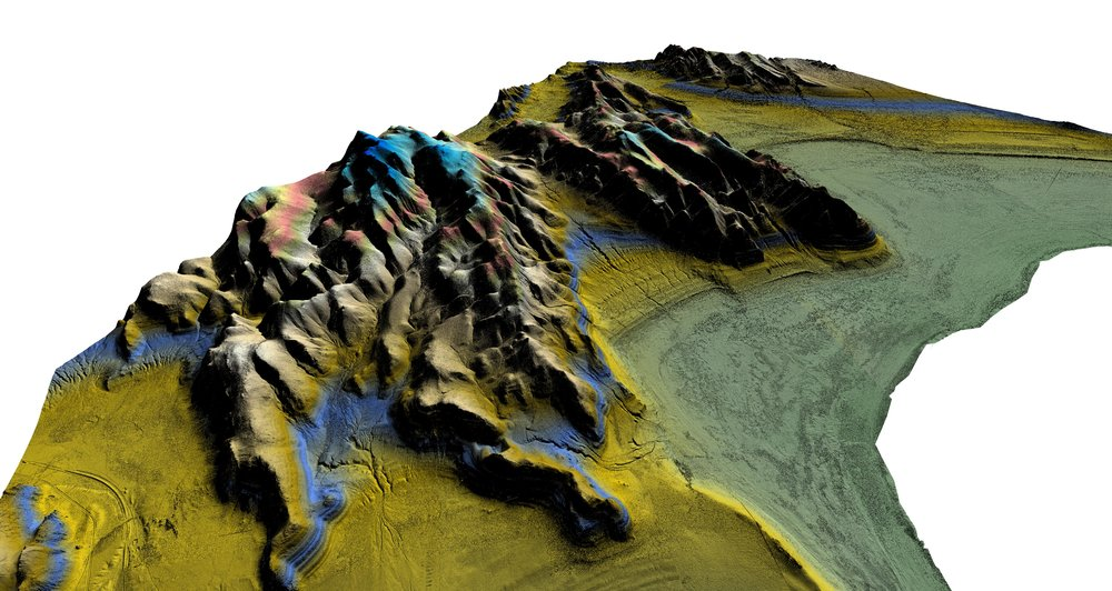 250 square kilometer digital elevation model by UAV: 127,000 photos, 5cm resolution, 1.75 TB of photo data