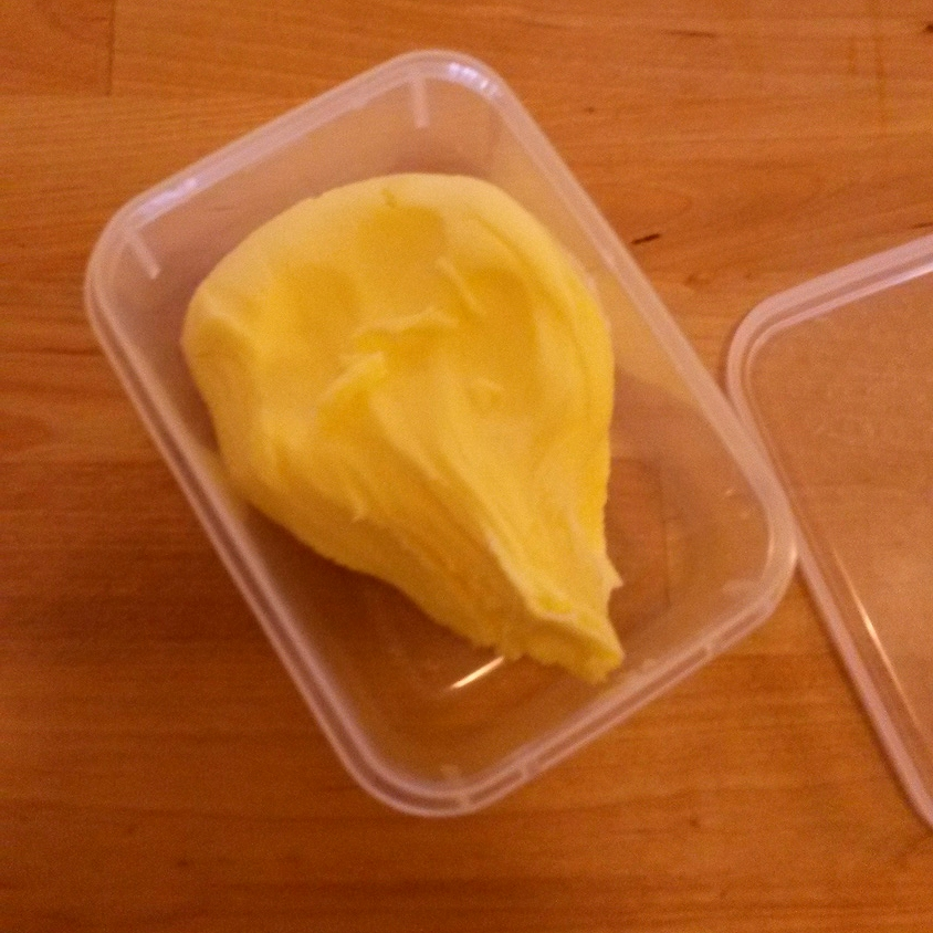 Homemade butter. A wonderful accidental discovery.