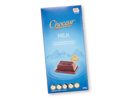 Choceur Blocks (plain/ unfilled blocks only) Where: Aldi stores - locations Status: Palm Oil Free Also: Aldi's Just Organic & Moser Roth chocolates are palm oil free