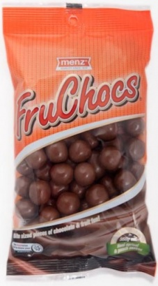FruChocs (all varieties) Where: Most SA retailers, some Coles supermarkets & online Status: Palm Oil Free Also: All other Robern Menz products use CSPO