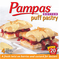 Pampas All Butter Puff Pastry (no other varieties) Where: Most Supermarkets Status: Palm Oil Free