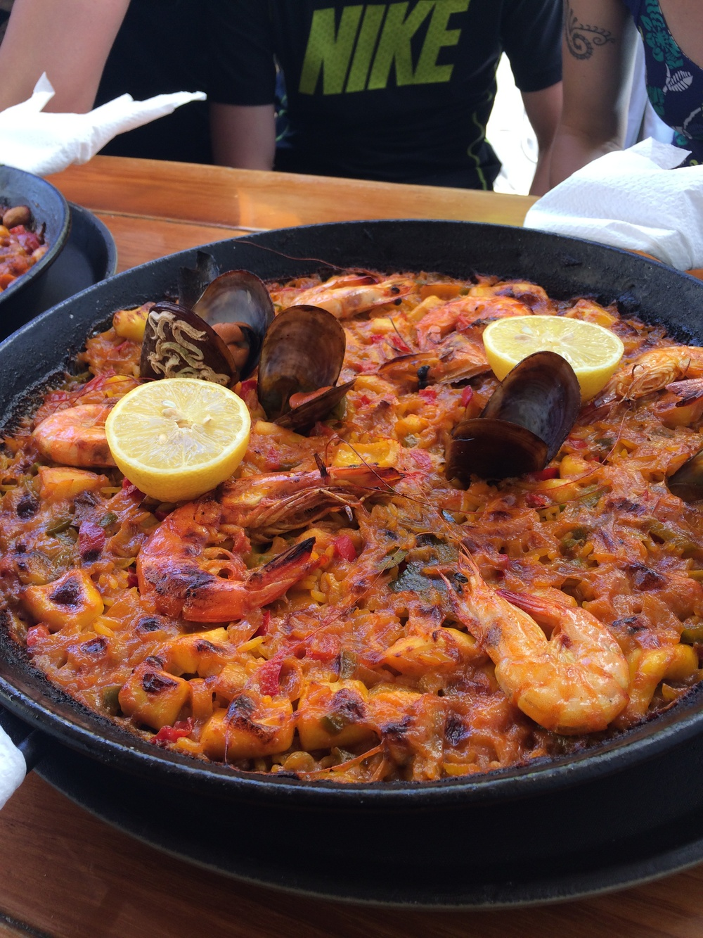 decent paella too