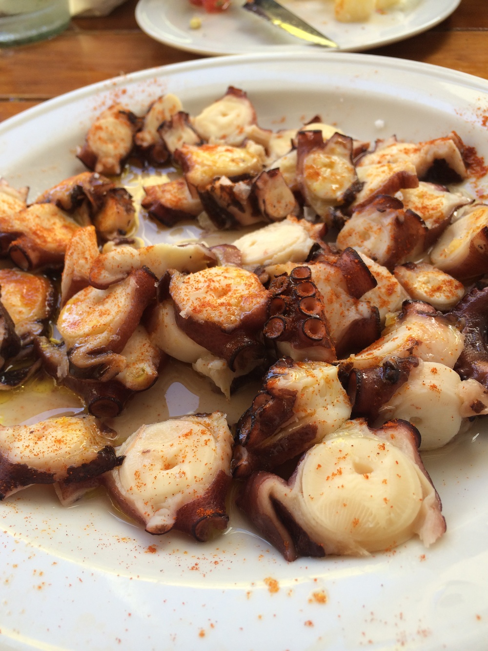 octopus starter in Puerto de Mogan