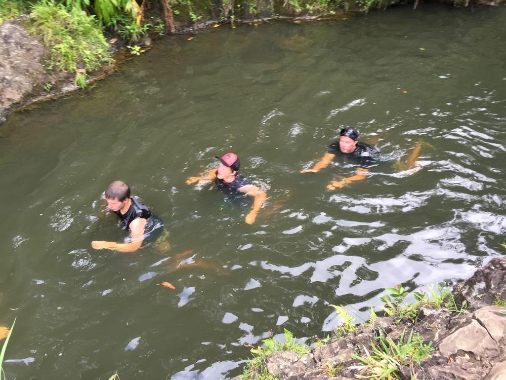 Compulsory swim!