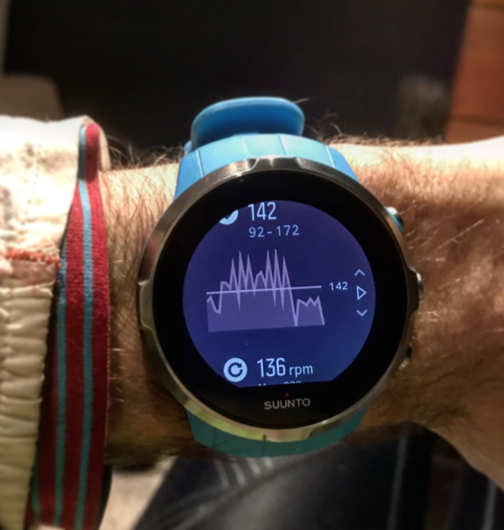 Interval session as shown on the Suunto Spartan Sport watch.