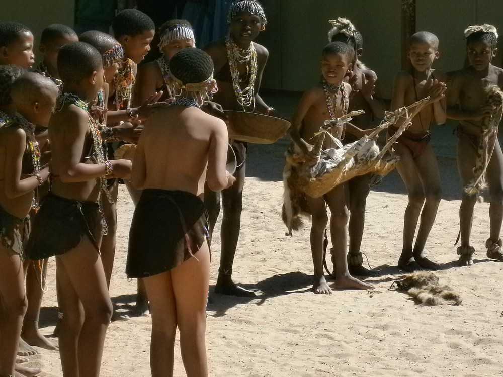 The San in Namibia. How this dance appeared to me, and how it appeared to the dancers themselves, both offer their share of truth.