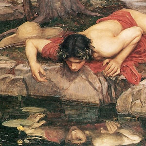 Waterhouse's Narcissus and Echo (detail)