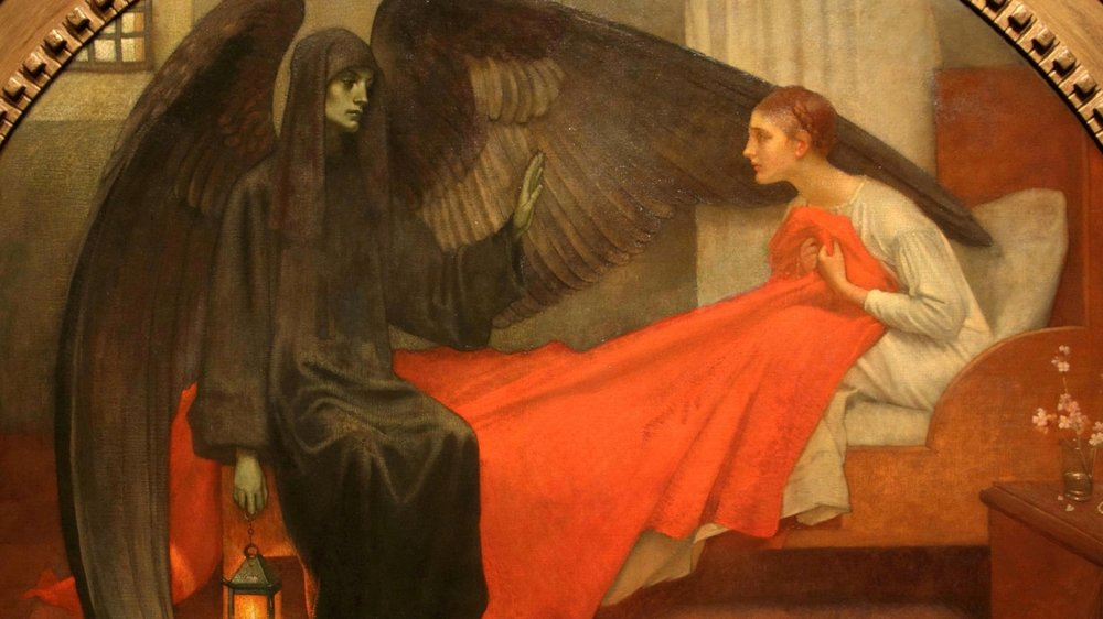 Marianne Stokes, Young Girl and Death