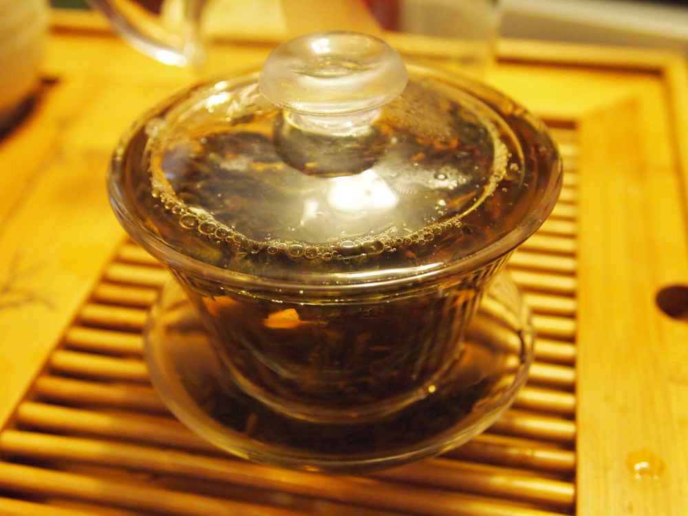 The first steeping: Again, this is an experiment.  Gongfu cha  allows short infusions due to the high leaf ratio. I would err on the side of caution for the first steeping and have it be too short, than too bitter. It's better to ease into a tea, letting the second steeping be longer if you have a weak first brew.