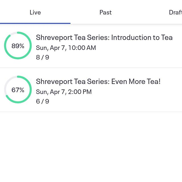 Woohoo! Great crowd for the Tea Series classes tomorrow at @wellfedla! You still have time to sign up, as it closes this evening! Don't miss out!
