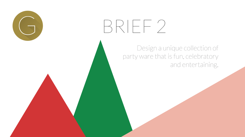 Brief 2. Design a collection of party ware