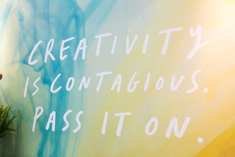 Creativity IS contagious - Pass it on!