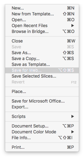 File Menu Dropdown