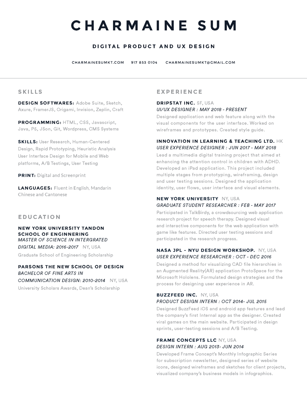 Charmaine Sum Resume - JULY2018- Product.png