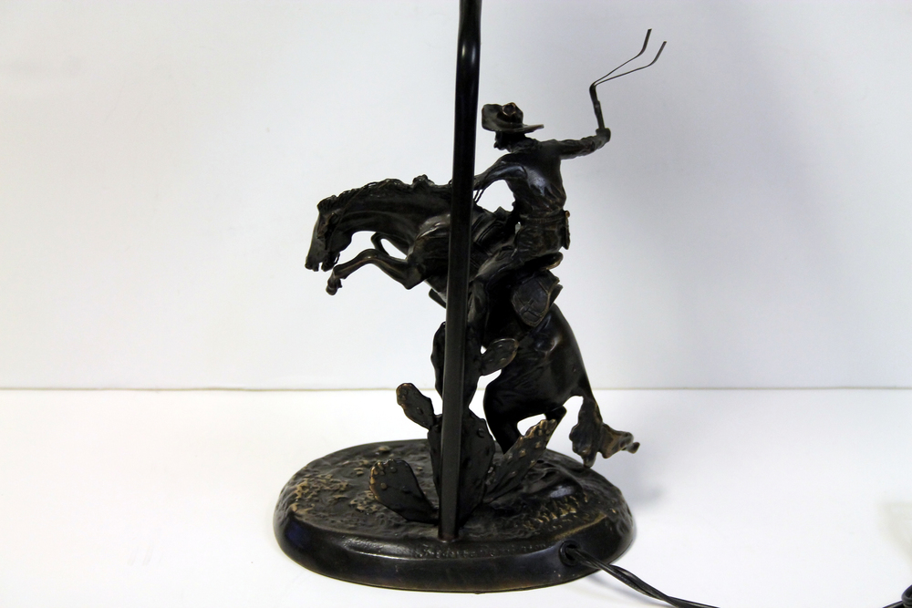 Remington Cheyenne Horse Lamp