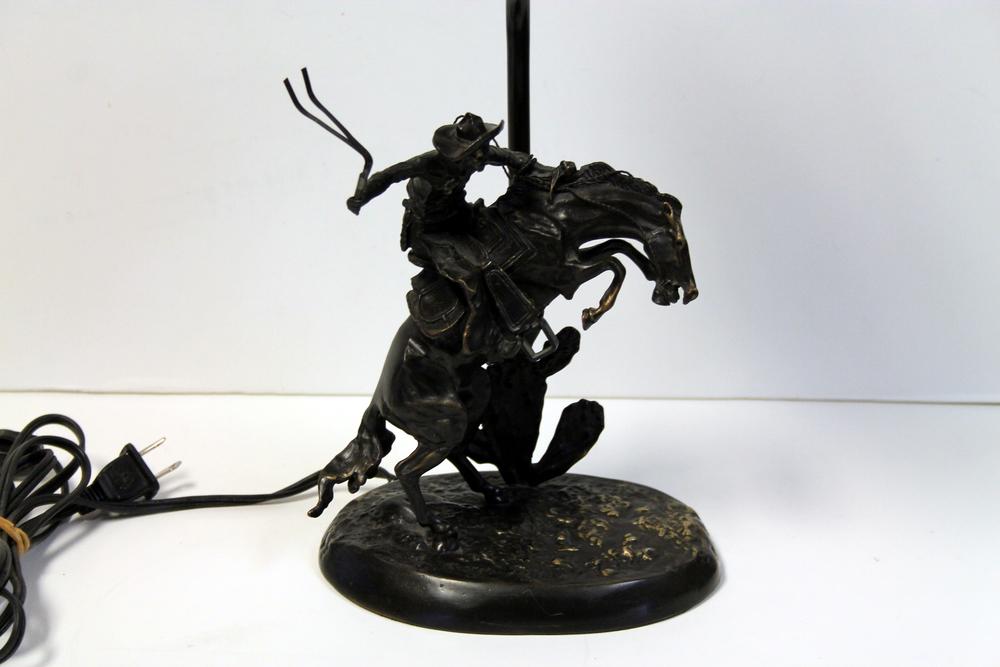 Attractive Remington Cheyenne Horse Lamp