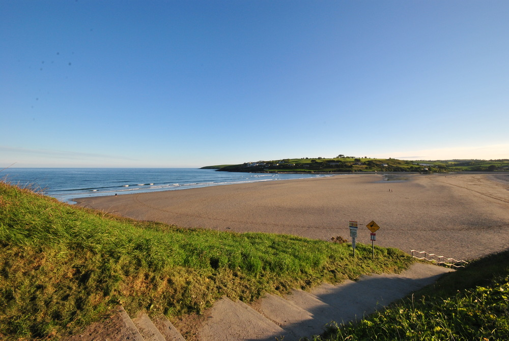 A beautiful post-supper view of Inchydoney Beach