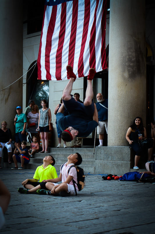 Turning tricks in Faneuil Hall