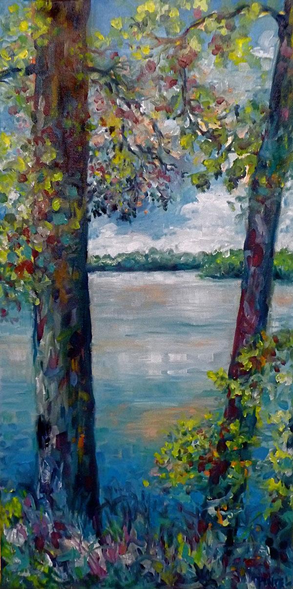 The Missouri River at Katfish Katy's - SOLD