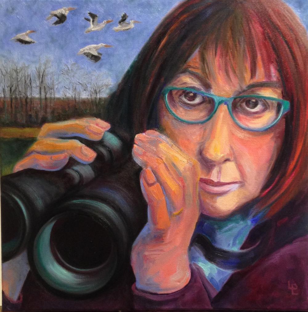 Self Portrait as Birdwatcher
