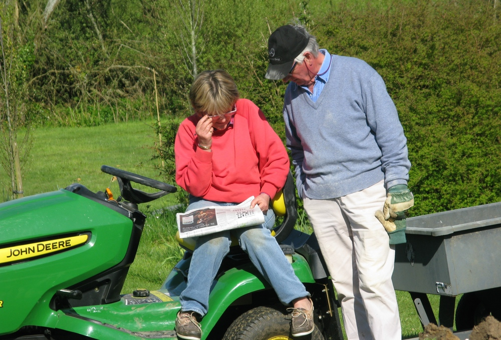 Annie and Christopher found the crossword harder than Drystone walling