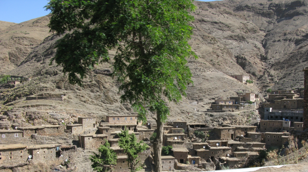 Traditional Berber Village- including satellite dishes