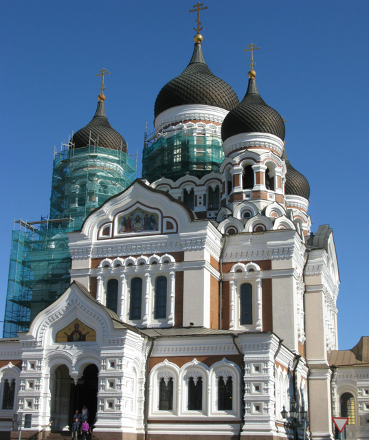 Russian Orthodox Church - a stunning piece of architecture considering Estonia has almost the lowest number of church goers of any country in the world.