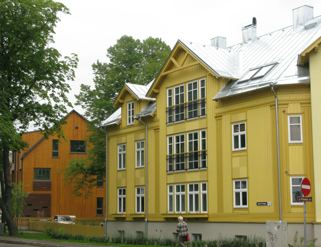 There are a lot of large timber houses in this part of the world,