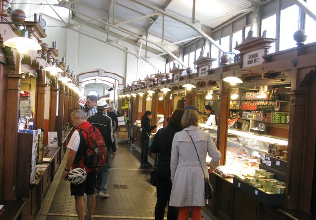 Indoor market by the sea