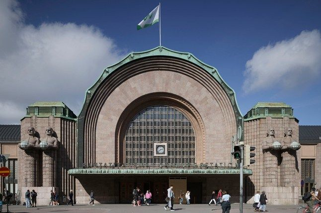 `The Helsinki Railway Station for instance! As we saw it but how it should look.