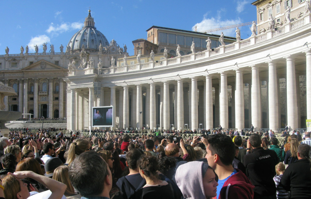 St Peters Square with the Pope