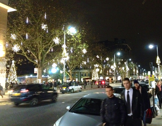 The festive Kings Road all the way down to Sloane Square which looked amazing.
