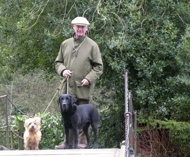 Our trusty leader, Christopher with his girls, Tessie and Tika