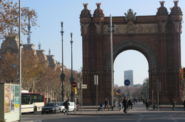 Barcelona's own Arc de Triomf built in 1888 as the main entrance to the world Fair