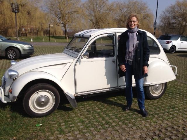 Special bit of history- Nick enjoying drivingdown memory lane
