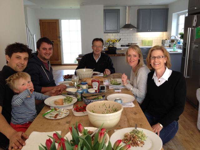 A wonderful Wood family lunch, and not an egg is sight!!!