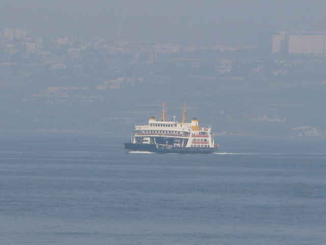 One of twenty busy ferry's working on the gulf of Izmit
