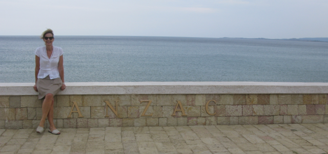 Anzac Cove, where the dawn service and ceremony is held every year.