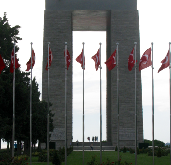 The Turkish Memorial and cemetery