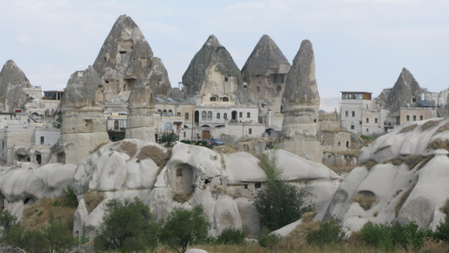Goreme's many cave dwelling