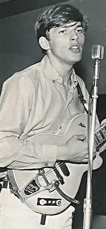 David Gilmour with his Hofner Club 60 in 1964