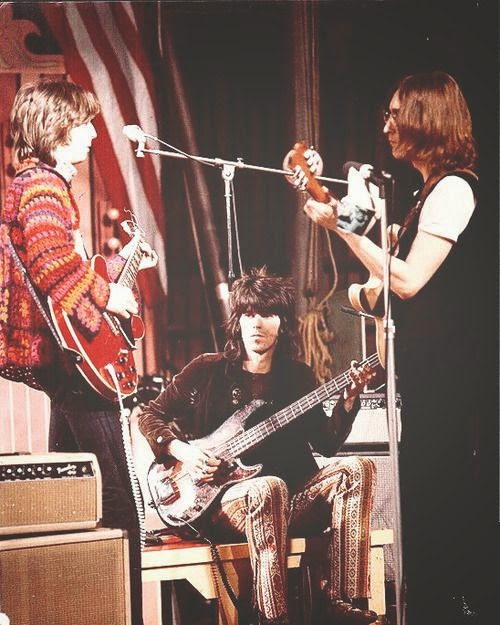 Eric Clapton, John Lennon and Keith Richards: The Dirty Macs in 1968.