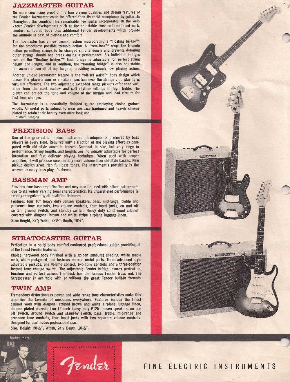 1962 Fender Catalog