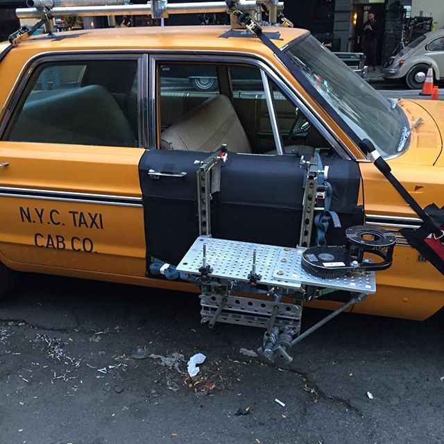 Cool cabbie on location in the LES