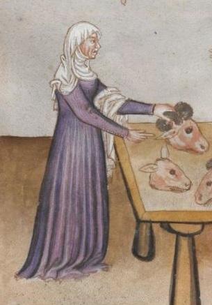 Tafcuinum Sanitatis (Vienna MS), f76v - Veil & wimple