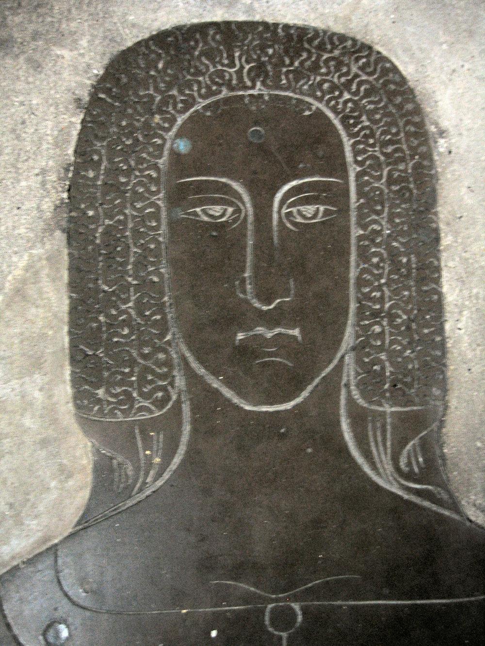 Margaret de Cobham (Cobham Church, 1375) - Frilled veil